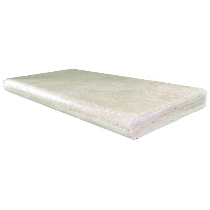 Super Light Bullnose Travertine Pool Copings 12x24x2 Super Light Bullnose Travertine Pool Coping has a tumbled surface. This finish makes them ideal for pool edging and stair treads as square corners