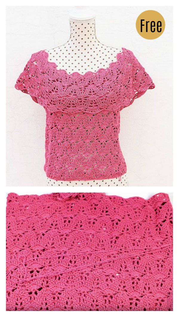 Gorgeous Summer Crochet Top Free Patterns Womans Crochet Tops And