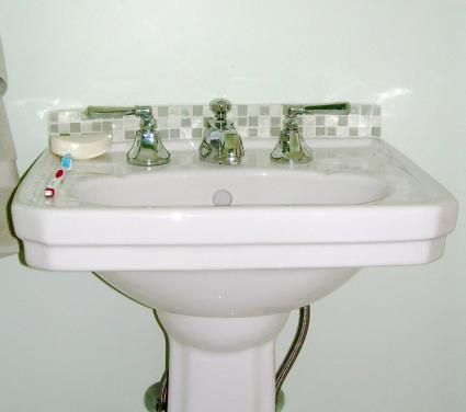 Remodeled Bathrooms With Pedestal Sinks 14 best bathroom reno images on pinterest | bathroom ideas