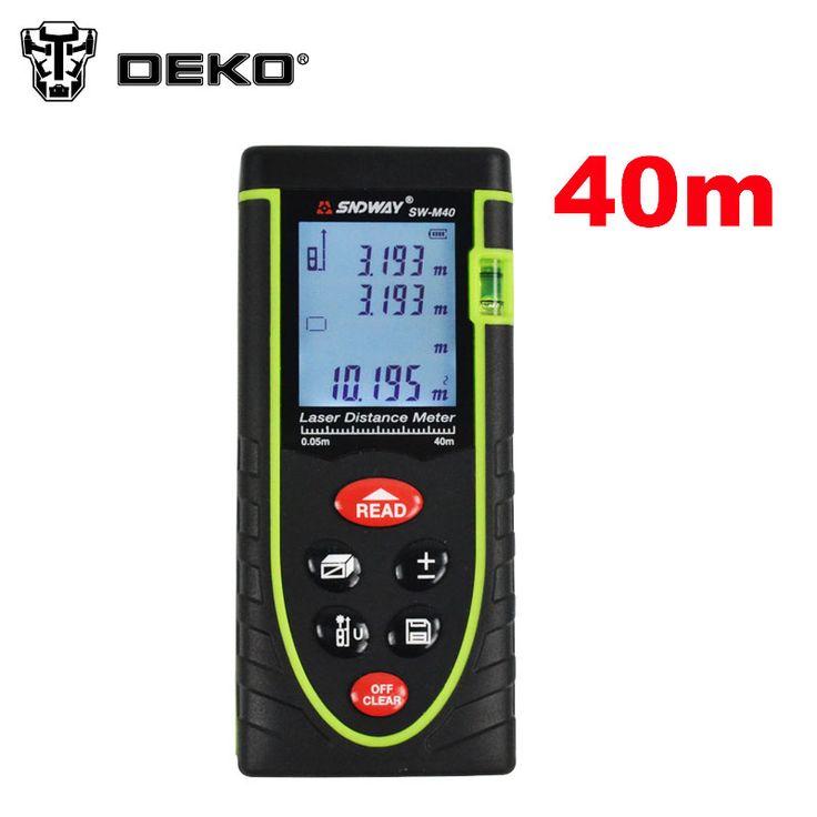 DEKO SW-M40  -0.05 40m Digital Laser distance meter Rangefinder Range finder  Tape measure Area/volume tool