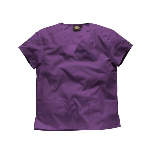 If you are looking for where to buy scrubs in purple, then look no further than this Dickies Unisex Purple Scrubs Top.