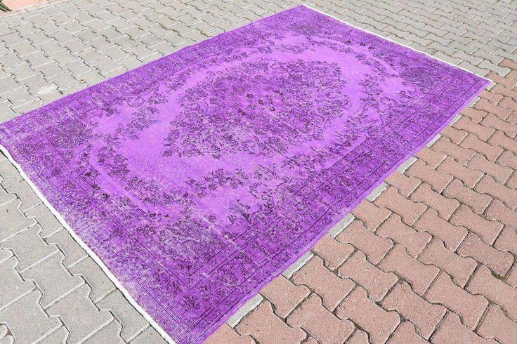"Vintage Turkish Oushak Purple Carpet - 5'7"" X 8'6"" on Chairish.com"