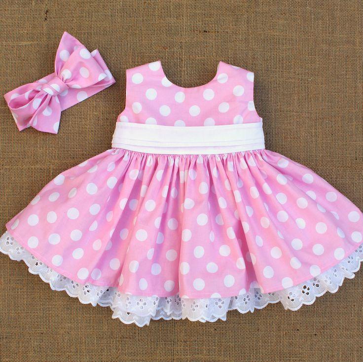 Minnie Dress in Pink Polka Dot