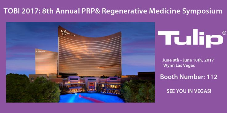 Visit Tulip in Las Vegas, Nevada for The Orthobiologic Institute's (TOBI) 8th Annual PRP & Regenerative Medicine Symposium, Workshops & Cadaver Labs from June 8th -10th, 2017. It's a great opportunity to share your expertise with other physicians, researchers and scientist on the forefront of regenerative medicine. Join Tulip at booth number 112. We look forward to seeing you in Vegas! #vegas #regenerativemedicine #symposium #plasticsurgery #plasticsurgeon #TOBI #fattransfer
