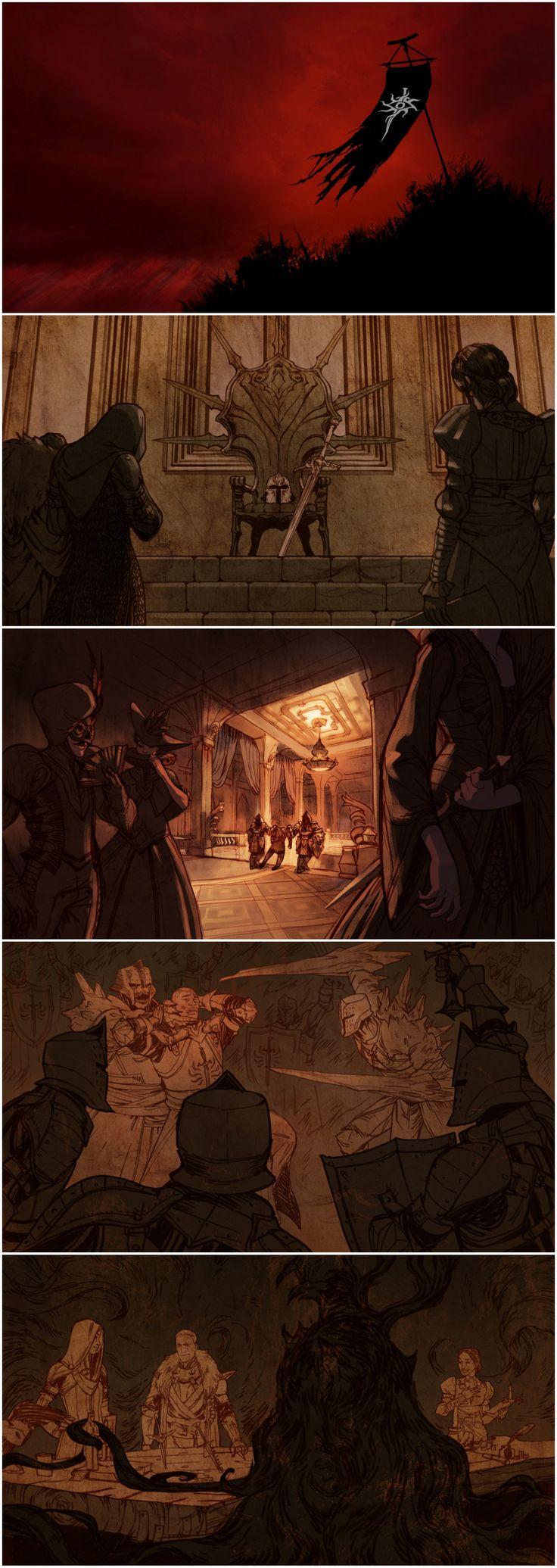 Dragon Age: Inquisition - mission failure screen art