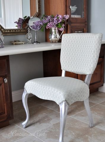 Silver Leaf Vanity Chair   This Is So Beautiful, You Should Have Seen How  Ugly