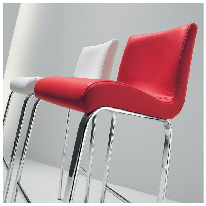 A stylish, modern Italian bar stool, the comfy Candess is upholstered in your choice of either hard-wearing yet luxurious faux leather or soft, tactile split leather in a choice of five colours - black, brown, red, beige or white. £269.00