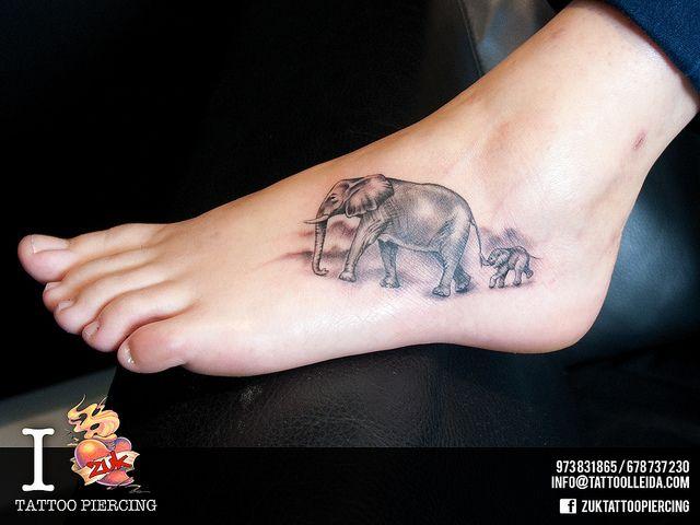 Tatuajes Elefante Pies Zuk, Zuk Tattoo, Tatuaje Elefantes Pies Zuk ...