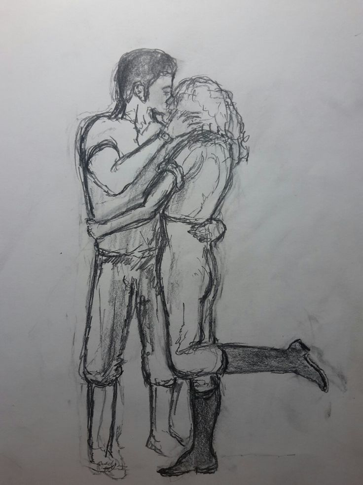 Day 9 --------- A sketch a day #ASketchADay #kiss #sketch #passion #art
