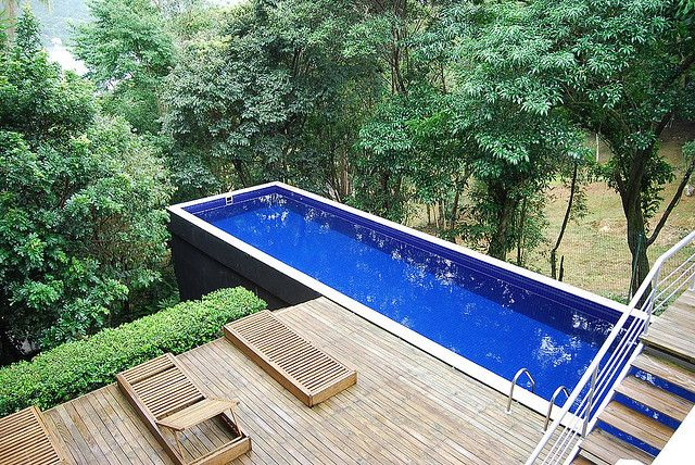 Hillside pool might not be that lavish or exotic but this for Hillside pool ideas