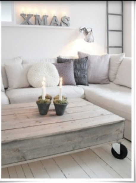 Neutral Christmas decorating- simplicity.