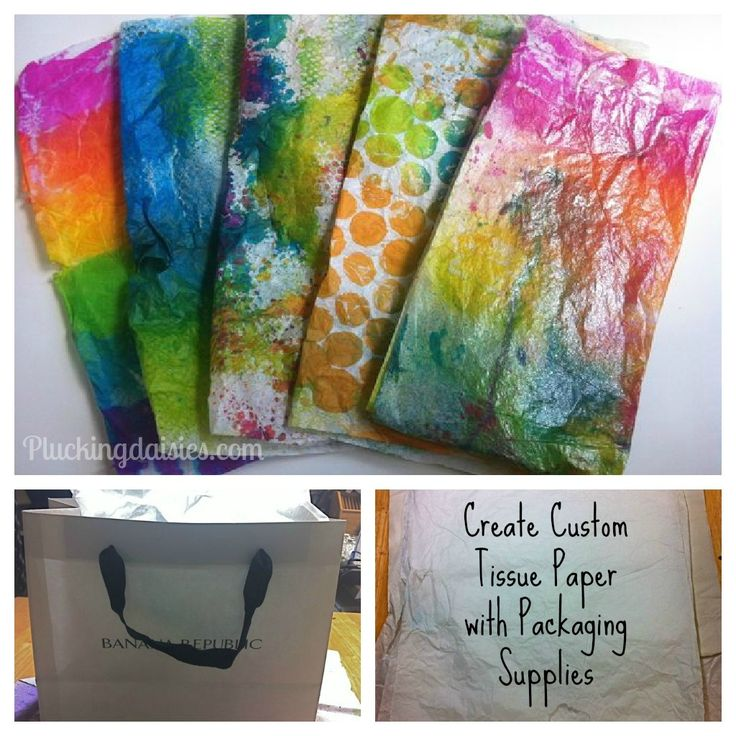 Create Custom Tissue Paper with Packaging Supplies Pluckingdaisies.com #dylusions