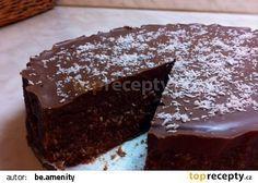 Kokosový nepečený dort Korpus:25 g krupicového cukru200 ml vody250 g másla2 balíčky kakaov.věnečků100 g strouh.kokosu+rum+dáke orechyPoleva:4 ks ledových kaštanů2 polévk. lžíce oleje
