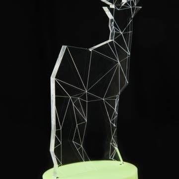 3D LED USB Deer Night Table Lamp Creative Animal Decoration Desk Light Gift Lamp Sale - Banggood.com sold out