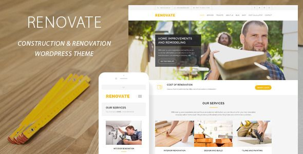 Renovate is a responsive and retina ready WordPress Theme best suitable for construction, renovation, remodeling or handyman business. The Theme comes with Cost Calculator Tool – a quick and easy way to get cost estimates for construction or remodeling services. Tags: architect, architecture, building, company, constructor, contractor, corporate, electrician, handyman, industry, painter, plumber, repair, tiler, worker.