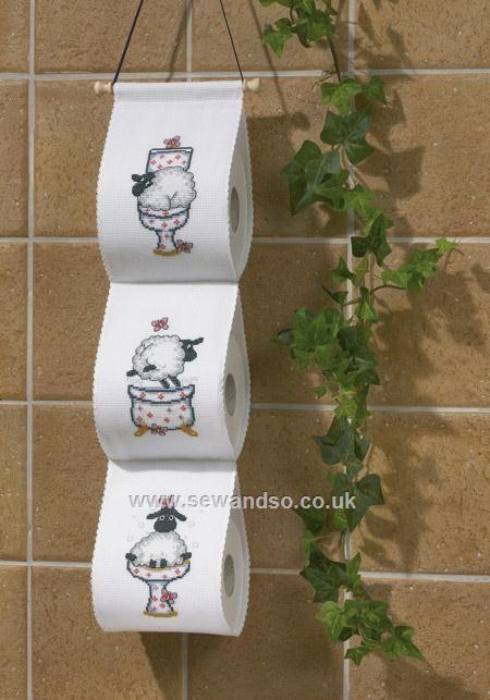Buy Sheep Antics Toilet Roll Holder Cross Stitch