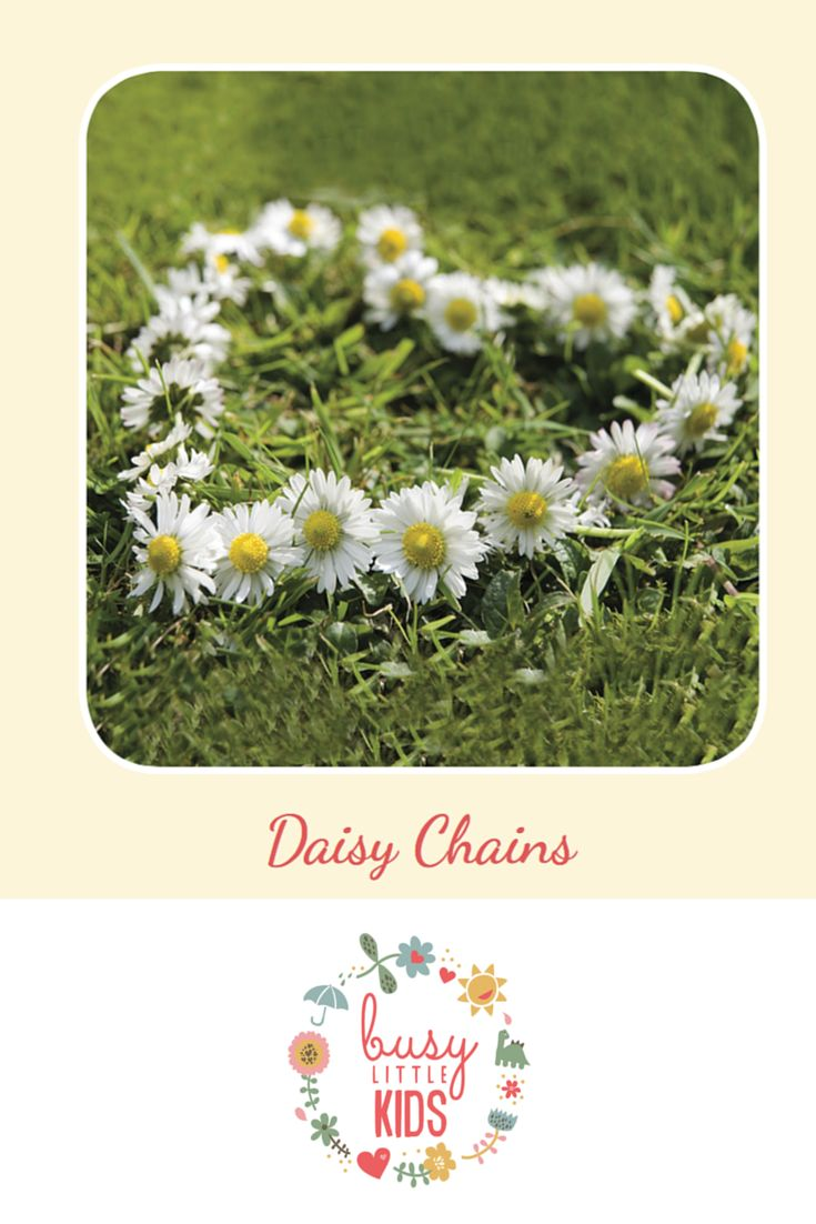 Fun, simple, easy sunny day kids activity - Daisy Chains