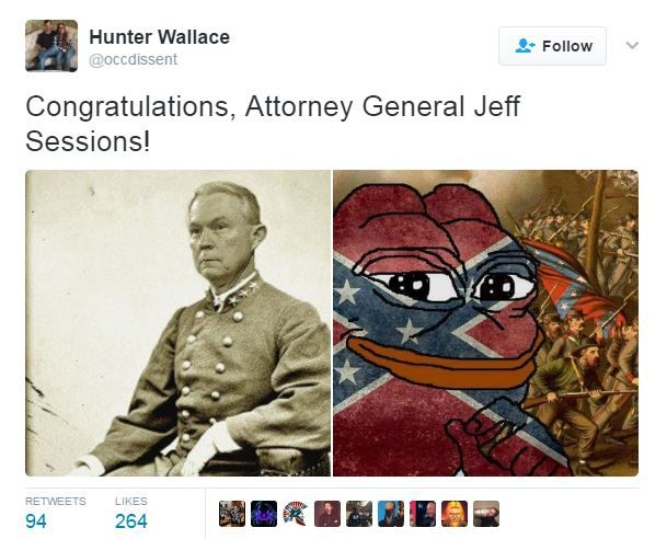 """Great News!"": White Nationalists See Sessions' Attorney General Confirmation As Major Step Toward Achieving Their Racist Goals"
