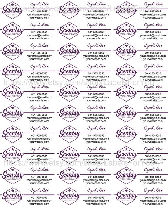 Personalized SCENTSY Brochure Labels Direct Sales by LabelsForYou