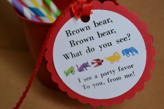 Brown Bear Eric Carle inspired Birthday or Baby by SONNYAndCo, $9.00