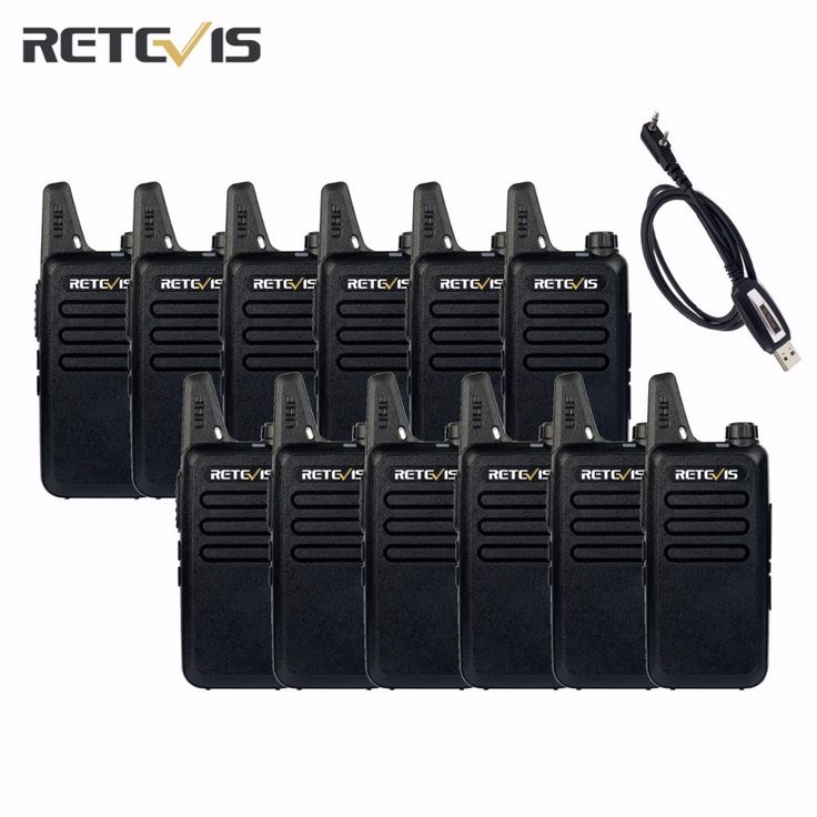 12pcs Walkie Talkie Retevis RT22+A Programming Cable UHF 2W CTCSS/DCS TOT  VOX