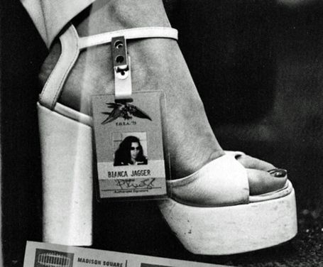 Bianca Jagger dancing shoes