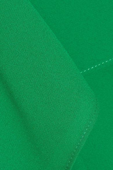 Alice Olivia - Reese Layered Asymmetric Crepe De Chine Mini Dress - Green - x large