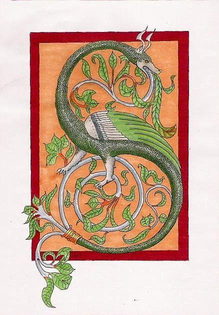 Medieval Wyvern by Ceinwen on deviantART