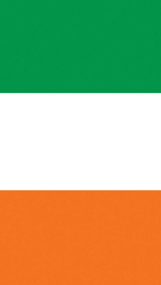 Ireland Irish Flag iPhone 5 5c wallpaper green white orange gold
