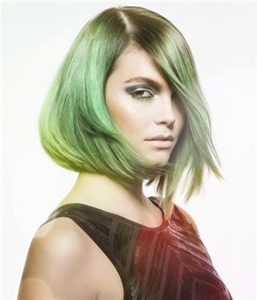 Mint hair color by Danielle Keasling.