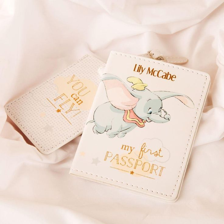 Dumbo Engraved First Passport and Luggage Tag Set
