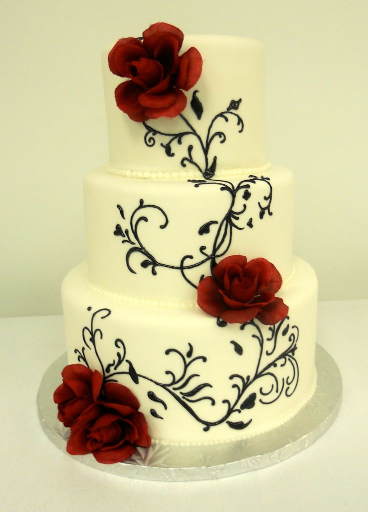Black And Red Wedding Cake Frost Bake Shop Frostbakeshop