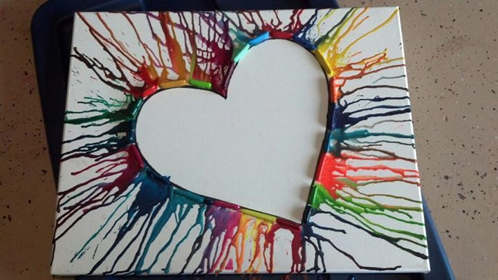 crayon art. Cute I haven't seen it turned this way before!