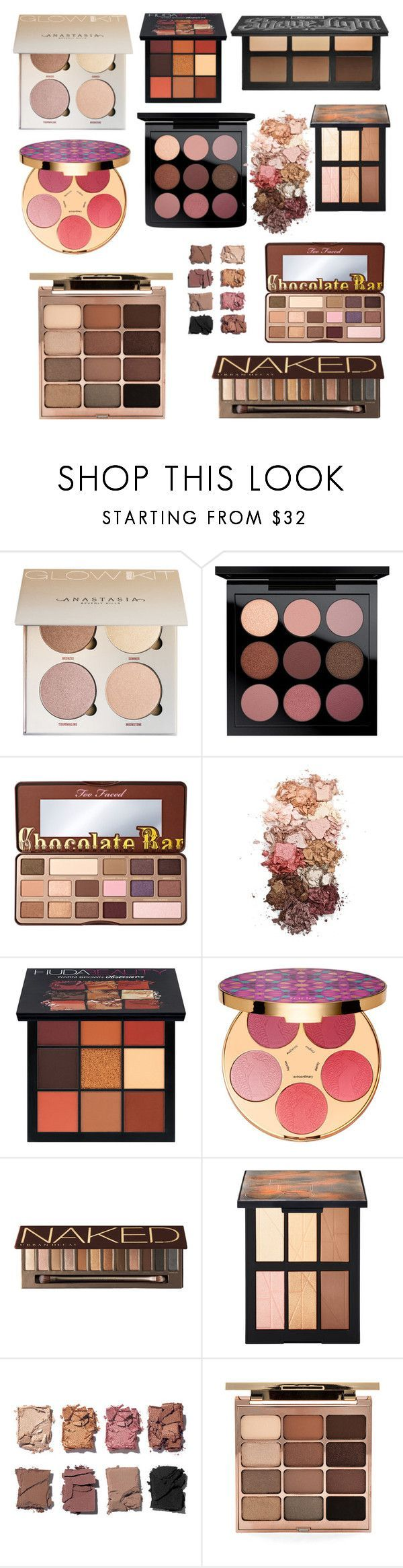 Must Have Palettes Part 1 by rosegoldpearls on Polyvore featuring beauty products by Stila, MAC Cosmetics, tarte, Urban Decay, NARS Cosmetics, Huda Beauty, Sigma and Illamasqua