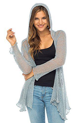 adorejoy womens long lightweight sheer cardigan hoodie