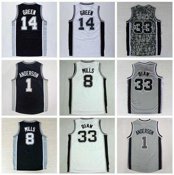 ... San Antonio 8 Patty Patrick Mills Jersey 14 Danny Green 33 Boris Diaw 1  Kyle Anderson 2017 NBA Draft Spurs ... 95a0dd942