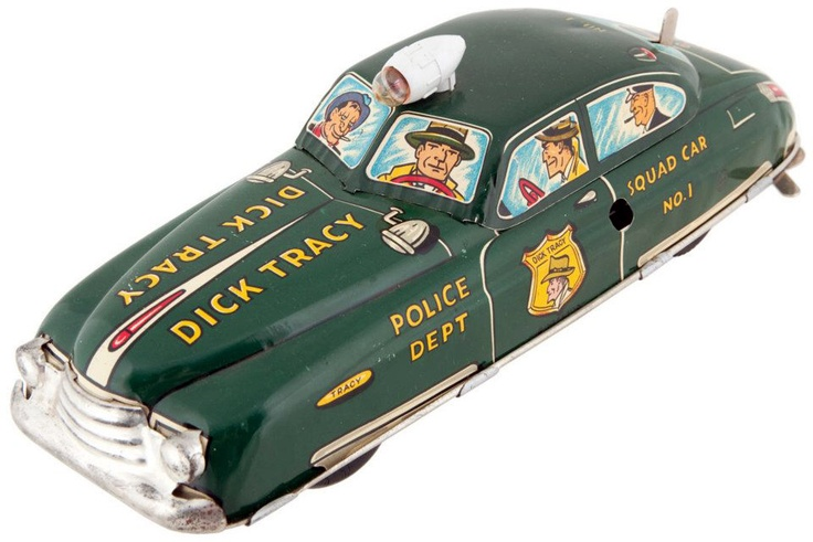 large w/u Dick Tracy squad car...Marx, USA