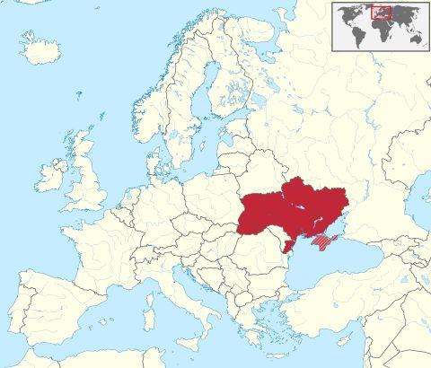 Położenie Ukrainy