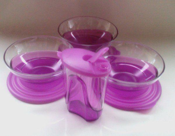 Eleganzia Bowl Tupperware (3 Pcs) + Mini Dispenser (1 pcs)