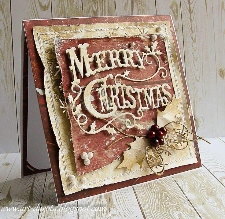 Card by Dorota Kopec (092514) [(dies) Crafty Ann Merry Christmas CABD-009, Snow…