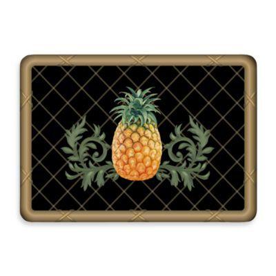 Bungalow Flooring New Wave Pineapple Lattice Black Doormat - BedBathandBeyond.com