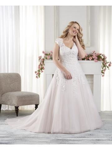 robe de mariage princesse tulle col en v