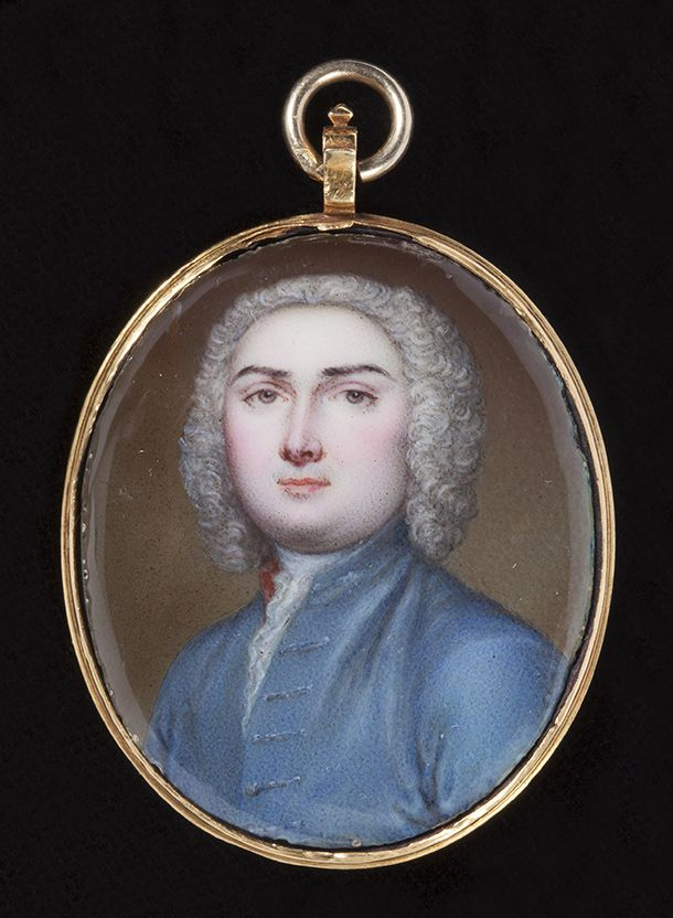 Portrait miniature of Carlo Broschi, known as Farinelli, Christian Friedrich Zincke, ca.1735, London, England. Enamel