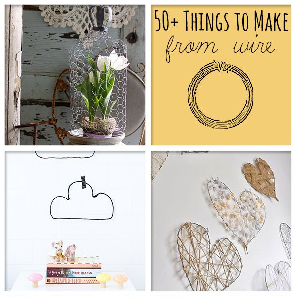 50+ Wire Crafts to Make @savedbyloves: Diy Wire Tree, Wire Projects, Crafts To Make, Chicken Wire Crafts Ideas, Wire Art, Craft Ideas, 50 Things, Chicken Wire Crafts Diy