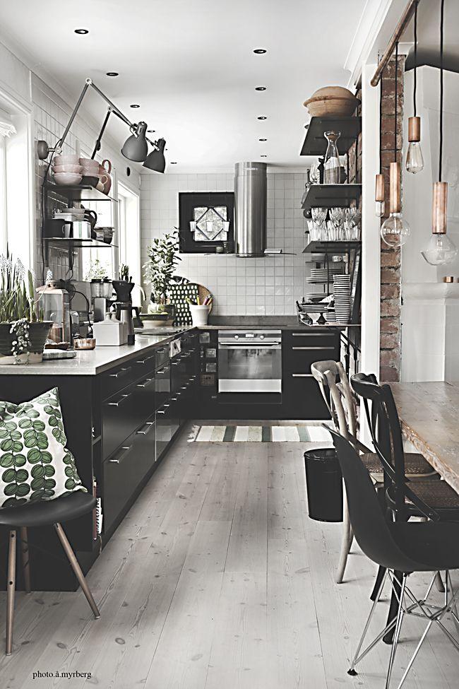 industrial cozy kitchen