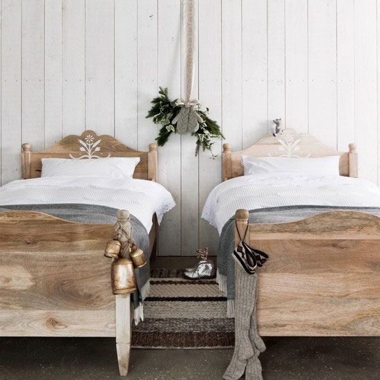 Vintage stripped wood beds