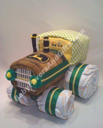 Tractor Diaper Cake http://babyfavorsandgifts.com/tractor-diaper-cake-p-34.html #babyshower