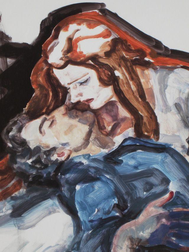Elizabeth Peyton. Parsifal. Oil on panel.