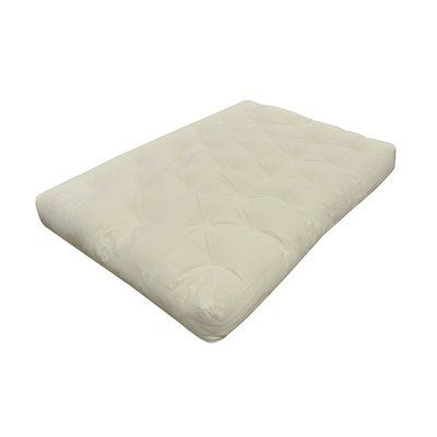 Medium Natural Cotton Futon Mattress - http://delanico.com/futons/medium-natural-cotton-futon-mattress-750383774/