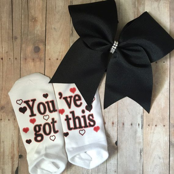 Custom cheer socks. Perfect gift for the by BoldBOWtique on Etsy